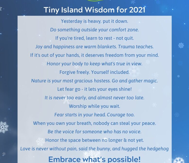 16 🌴 Tiny Island Wisdom Tips for 2021💫